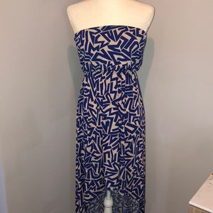 High low tribal print dress
